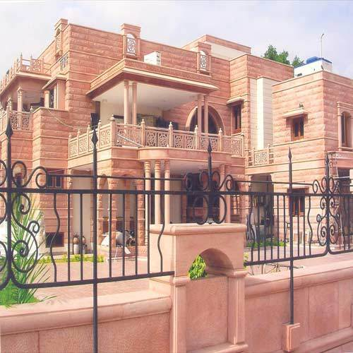 Dholpur Stone Elevation : Architectural stone work services house works
