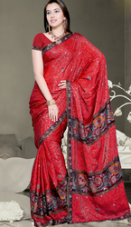 Red Designer Georgette Indian Saree