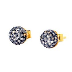 Designer Pave Diamond Earrings