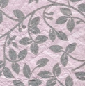floral design flock printed papers