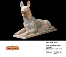 Dog Marble Stone Animal Figure