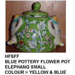 Blue Pottery Pot