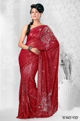 Red Design Sarees