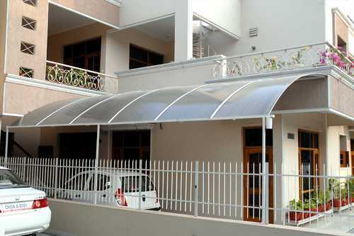 Polycarbonate Sheet Shed With Ms Frame At Rs 180 Square