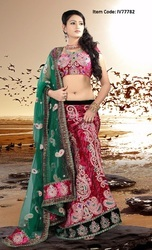 Plushy Brick Red Lehenga Choli