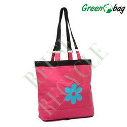 Pink Cotton Canvas Bags