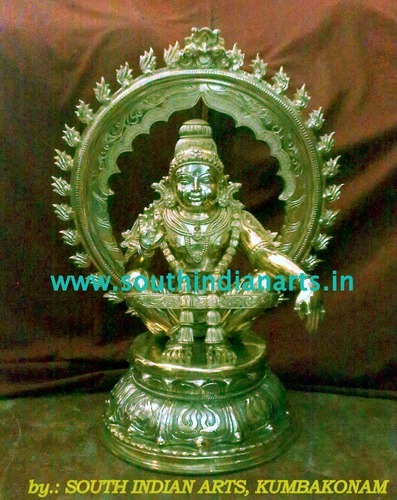 Bronze Iyappan Statues with Arch