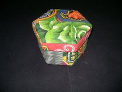 Patch Work Fabric Covered Boxes