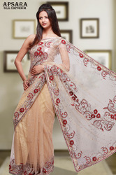 Designer Saree With Rose Work