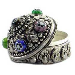 JP-Indian Ethnic Stone Studded Jewelry Pill Boxes