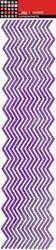 Zig Zags Purple Glitter