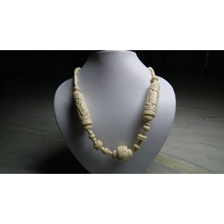 White Bone Carved Necklace
