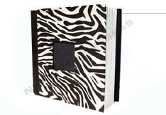 Scrap Book With Zebra Skin Paper Cover