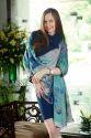 Royal Blue Printed Scarves
