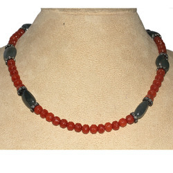 Gemstone Sapphire & Agate Diamond Necklace Jewelry