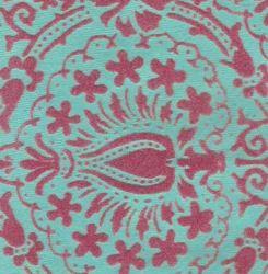 Indian Design Flock Printed Handmade Paper