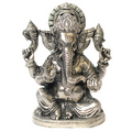 gracious ganesha white metal god idols figures