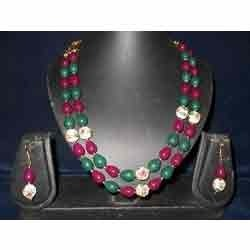 Supplier Red Green Beads Moti Mala From Mumbai Maharashtra India
