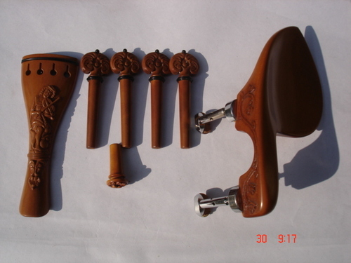 Carved Violin Set in Boxwood