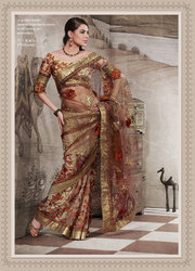Brown Party Wear Saree