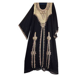 Black Kaftan With Golden Work
