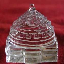 Natural Crystal Sphatik Meru Shree Yantra
