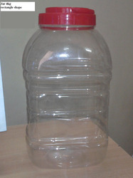 4 kg Rectangle Shape Jar