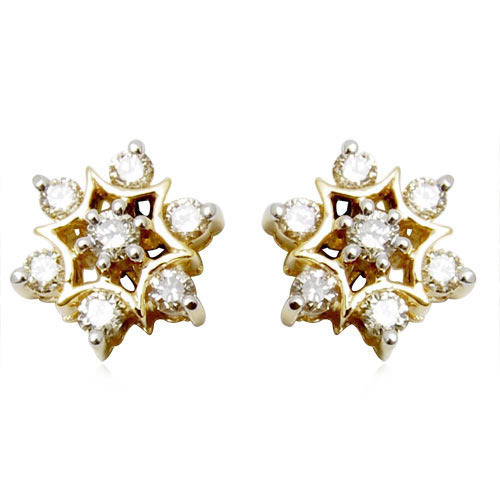 Gold Earrings Exquisite G Set Diamond Studded Ruby Fl Hanging Indian Supplier Exporter From Jaipur