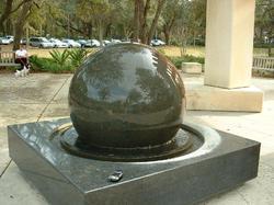Black Marble Globe Ball Fountain
