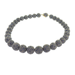 Pave Diamond Beaded Necklaces