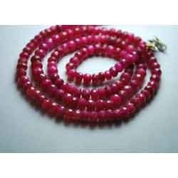Genuine Red Ruby Faceted Rondelle