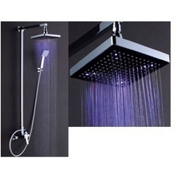 LED Overhead Shower Water Power