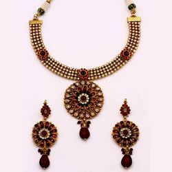 Antique Necklace Sets Semi Precious Stones
