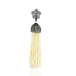 Natural Pearl Tassel Pendants