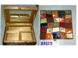 Sequined Fabric Covered Jewelry Boxes