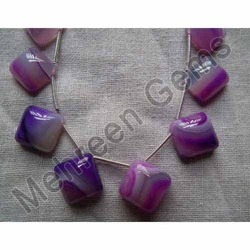 Chalcedony Purple Text Smooth Squares