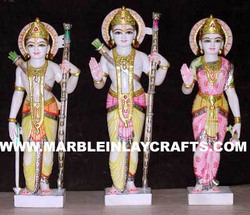 Marble Ram Darbar Family Statues