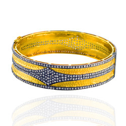 Diamond Studded Gold Bangle