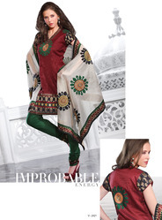 Silk Embroidered Fabric Suits