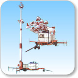 19(21) Meter Telescopic Tilting Type Tower