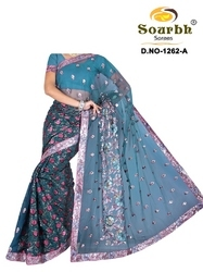 Sarees With Amazing Embroidery Works (1262-A)