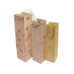 Embroidered Paper Wine Bags