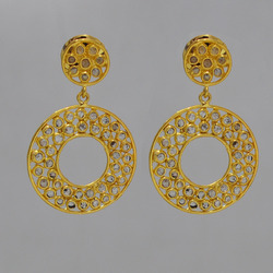 Indian Ethnic Diamond Earrings jewelry
