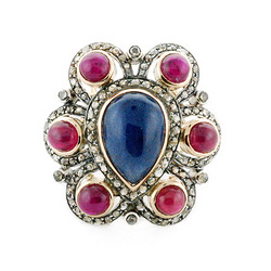 Vintage Gold Ring With Sapphire