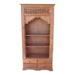 4 Drawers Mehrab Shape Bookcase
