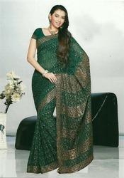 Designer Green Sarees