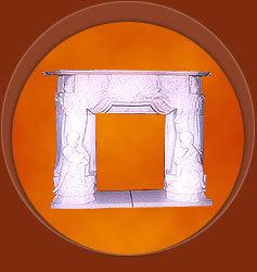 Designer Marble Fireplace
