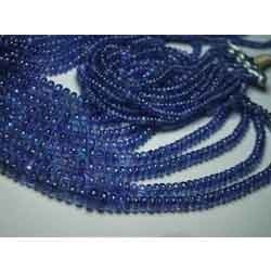 Tanzanite Smooth Polished Rondelles Beads