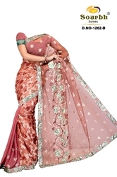 Net Brasso And 60 Gram Sarees (1262-B)