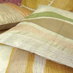 Sand Dunes Applique Textured Cushion Covers